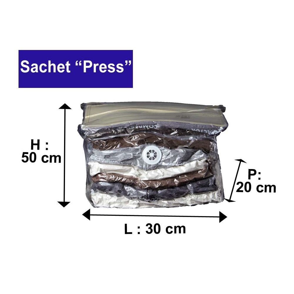 Compactor sachet de compression sous vide press - Sachet de the vide ...