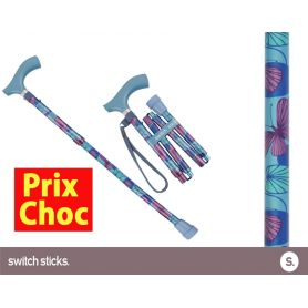 Canne pliante de marche fantaisie - Switch Sticks Kiki