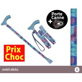 Canne pliante de marche Switch Sticks Kiki + Porte canne