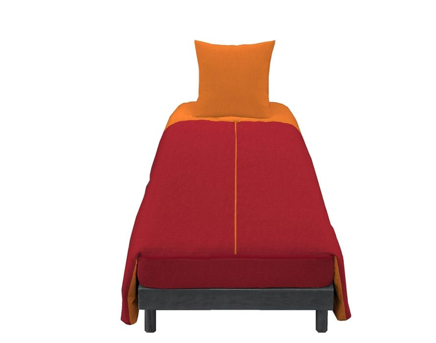 syst me t bleu calin housse couette zipp e 1 personne facile installer motif cerise orange. Black Bedroom Furniture Sets. Home Design Ideas