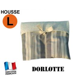 Housse micro-ondes taille L - Rayures grises