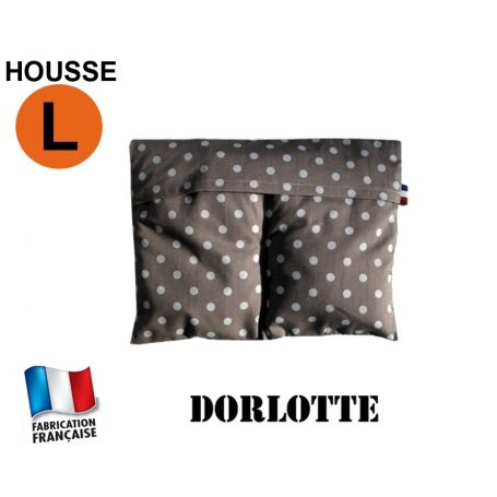 Housse micro-ondes taille L - Pois gris