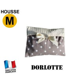 Housse micro-ondes taille M - pois gris