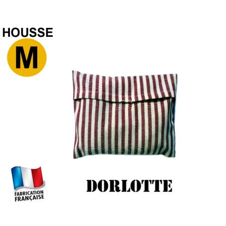 Housse micro-ondes taille M - Rayures bordeaux