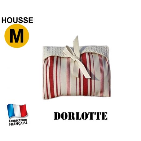 Housse micro-ondes taille M - Rayures rouges