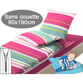 Couchage sans couette 90x190 Rayures