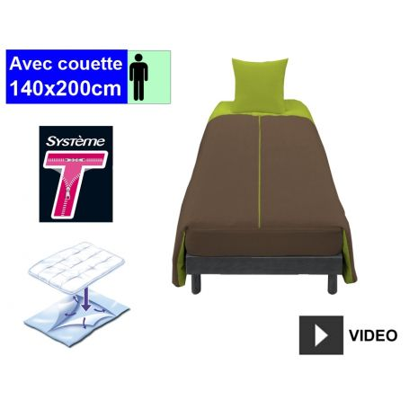 Couchage complet 1 pers. Chocolat