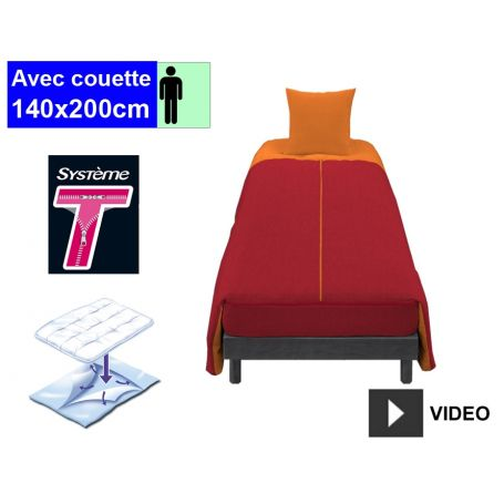Couchage complet 1 pers. Cerise
