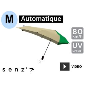 Parapluie tempête automatique anti-vent Senz Medium - Green Ranger