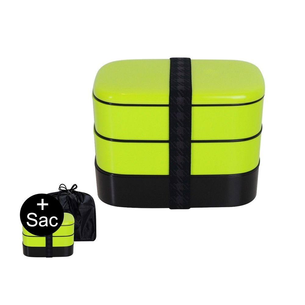 bo te repas bento xl 1 2l lunch box boite alimentaire 3 compartiments vert. Black Bedroom Furniture Sets. Home Design Ideas