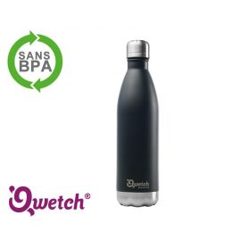 Bouteille isotherme inox Qwetch 500ml - Noire