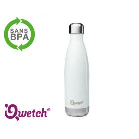 Bouteille isotherme inox Qwetch 500ml - Blanche
