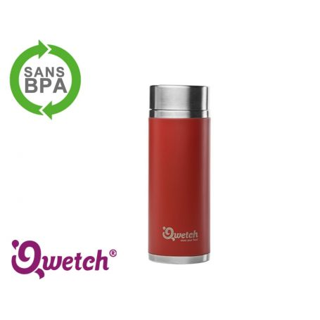 Théière isotherme inox Qwetch 300ml - Rouge