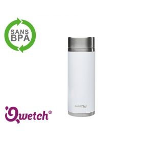 Théière isotherme inox blanche