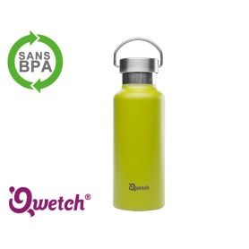 Gourde isotherme inox Qwetch 500ml - Vert Anis