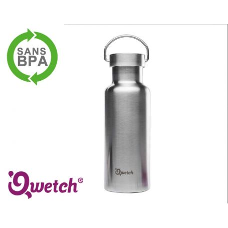 Gourde isotherme inox Qwetch 500ml - Argenté