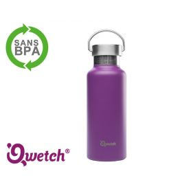 Gourde isotherme inox Qwetch 500ml - Violette