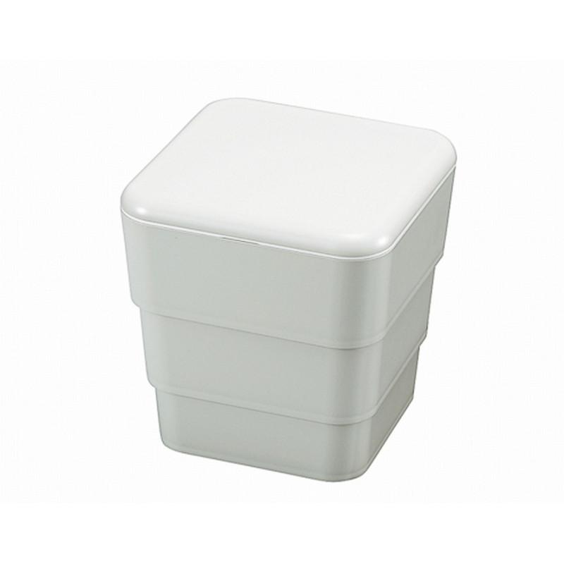 Boîte repas Bento 3 compartiments 3,4L - Blanche