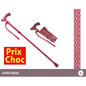 Canne pliante de marche fantaisie - Switch Sticks Rubis