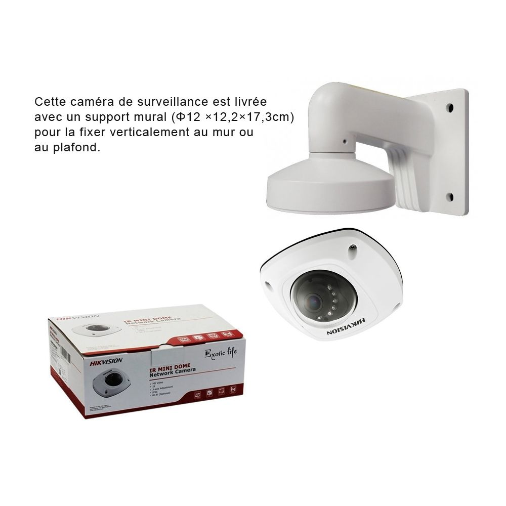 cam ra de surveillance mini d me tanche ip hik vision 3mp cam ra vid osurveillance. Black Bedroom Furniture Sets. Home Design Ideas