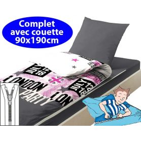Couchage enfant couette 90x190 Party