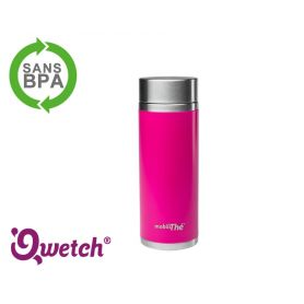 Théière isotherme inox Qwetch 300ml - Rose Magenta