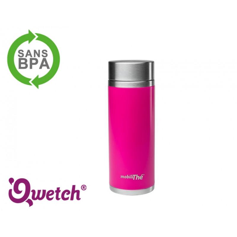 Théière isotherme inox Qwetch 300ml - Rose Magenta
