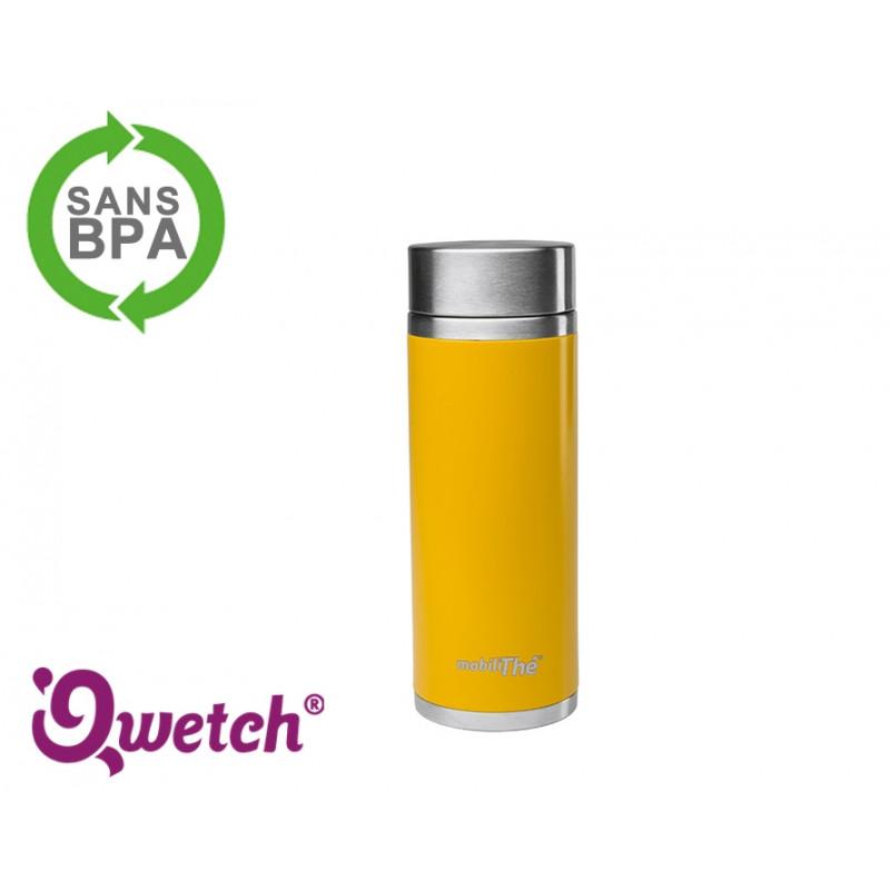 Théière isotherme inox Qwetch 300ml - Jaune / orange