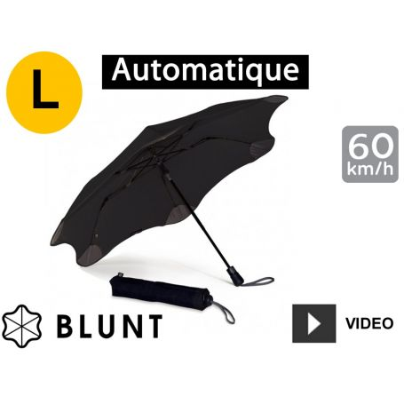 Parapluie tempête Blunt Métro Noir