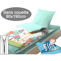 Couchage sans couette 90x190 Girafe