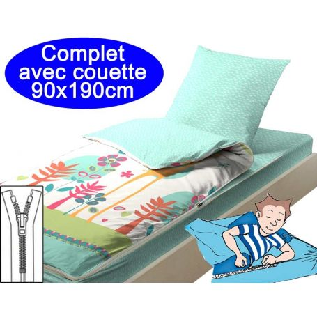 Couchage avec couette 90x190 Girafe