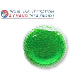 Bouillotte perles moyen modèle vert