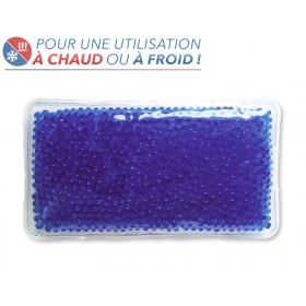 Bouillotte perles grand modèle bleu