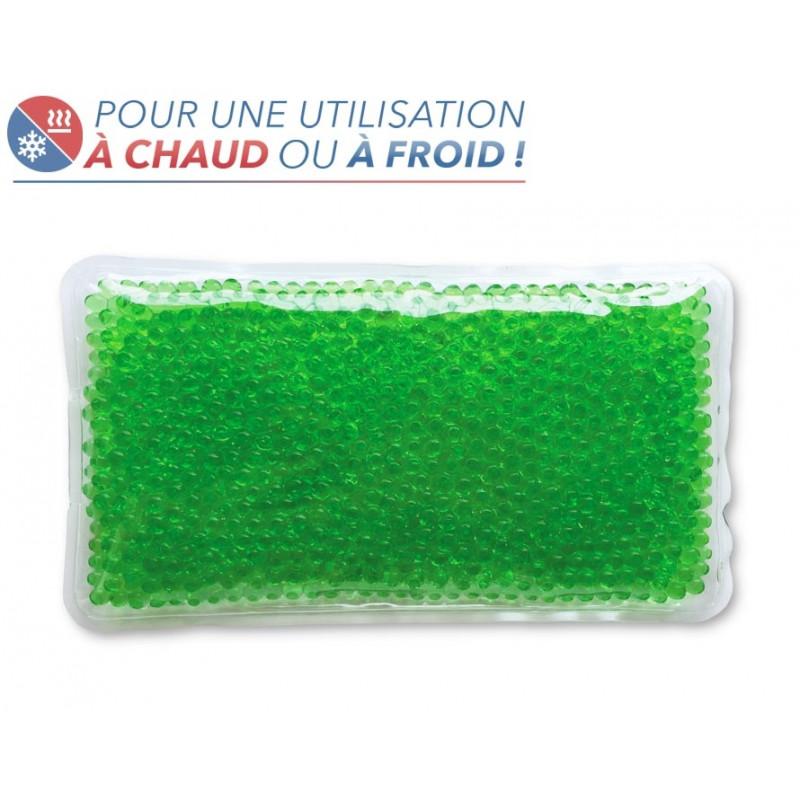 Bouillotte perles grand modèle vert