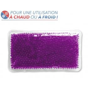 Bouillotte perles grand modèle violette