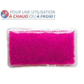 Bouillotte perles grand modèle rose
