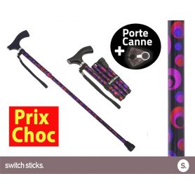 Canne pliante de marche Switch Sticks Cercles + Porte canne