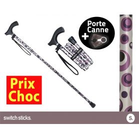 Canne pliante de marche Switch Sticks Orage + Porte canne