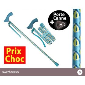 Canne pliante de marche Switch Sticks Tamise + Porte canne