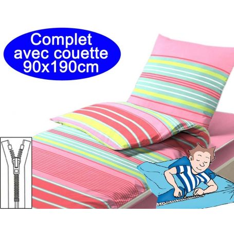 Couchage avec couette 90x190 Odile