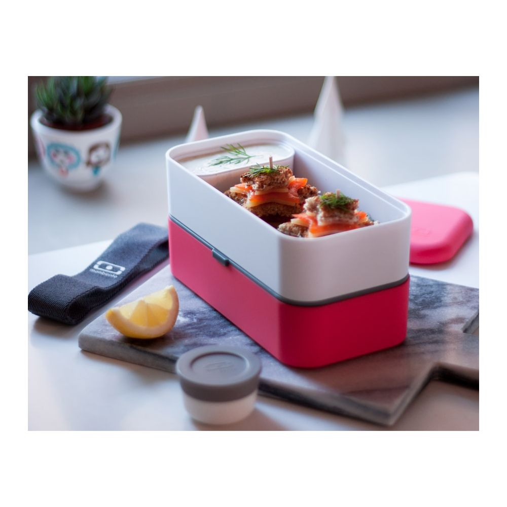 bo te repas bento duo 1l lunch box boite alimentaire 2 compartiments noir. Black Bedroom Furniture Sets. Home Design Ideas