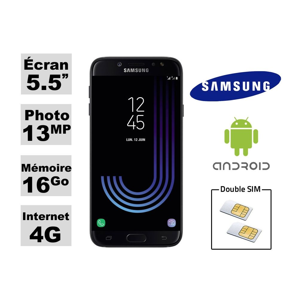 smartphone samsung galaxy double sim j730 sous android