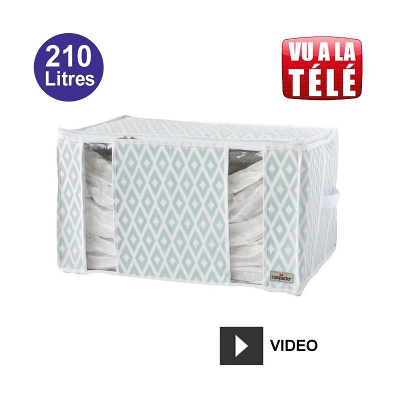 compactor housse gain de place sous vide 210 litres motif graphique coffre et malle de. Black Bedroom Furniture Sets. Home Design Ideas