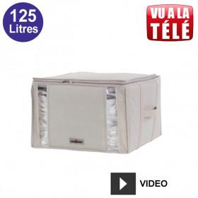 Compactor housse gain de place sous vide 125 Litres - Beige