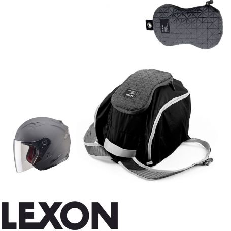 sacs transformables peanut de lexon sac pour casque moto et v lo repliable noir. Black Bedroom Furniture Sets. Home Design Ideas