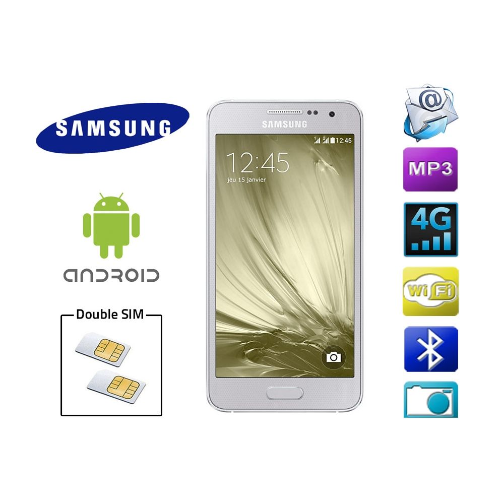 smartphone android samsung double sim 4g galaxy a300