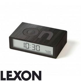 Réveil LCD Flip bois foncé