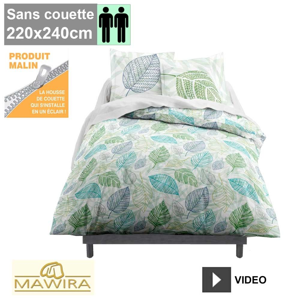housse de couette zipp e mawira 2 personnes 220x240cm magaly. Black Bedroom Furniture Sets. Home Design Ideas
