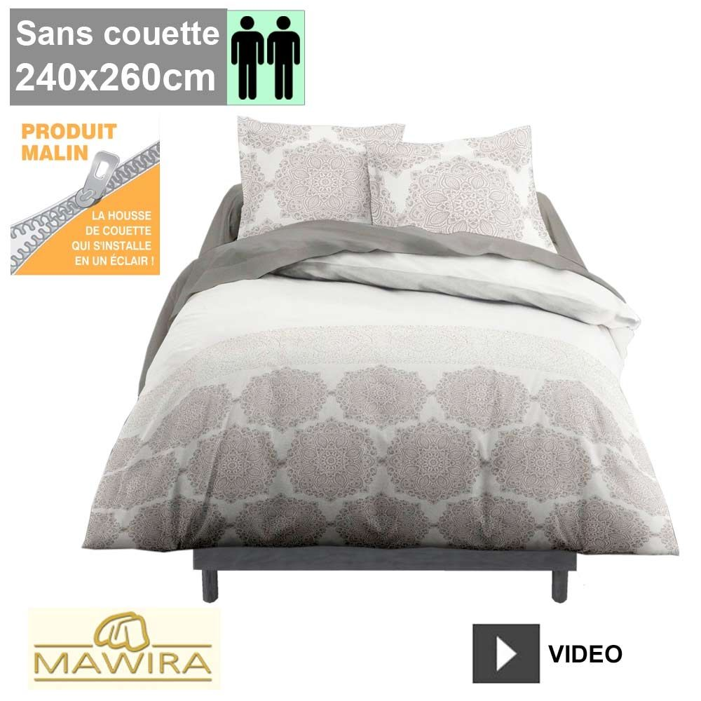 housse de couette zipp e mawira 2 personnes 240x260cm salombo. Black Bedroom Furniture Sets. Home Design Ideas