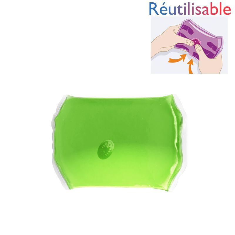 Chaufferette réutilisable - moyenne verte